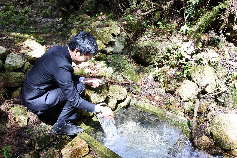 北五百川棚田の水源